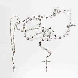 Eternal Rosary X 53 Flowers & Small Cross