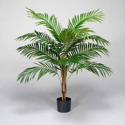 Green 4'H Polyester Areca Palm Tree w/12 Lvs in Pot
