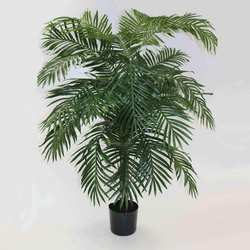 Green 6'H Polyester Areca Palm Tree w/21 Lvs in Plastic Pot