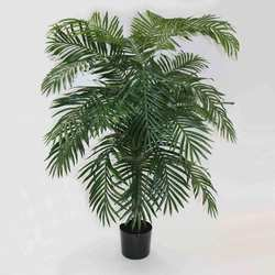 Green 7'H Polyester Areca Palm Tree w/21 Lvs in Plastic Pot