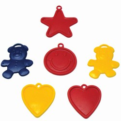 Red/Yellow/Blue 8 Oz Standard Balloon Weights- 4 Asst Shapes
