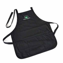 Black Twill Contemporary Apron With Logo