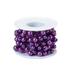 Purple 26'L Oasis Beaded Wire W/ 1/4