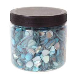 Turquoise Crushed Pearl Shells 10-20Mm Jar