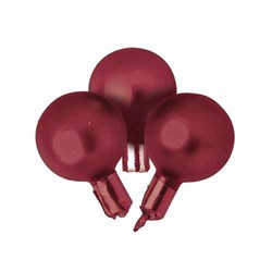 Matte Burgundy 35mm Glass Xmas Balls w/Matching Stem