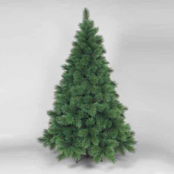 GREEN 7 1/2'H HINGED WHITE PINE TREE W/529 TIPS & 49