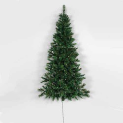 GREEN 6'H VINYL PRE-LIT NATURAL SPRUCE WALL TREE W/250 LED