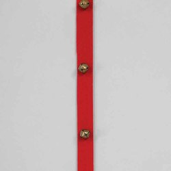Red 15'L Polyester Ribbon Garland w/1