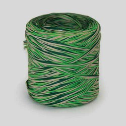 Natural/Lime/Green Tricolour Raphia X 216 Yds