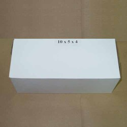 WHITE 10 X 5 X 4  BOX W/LID