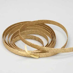 Gold 20mm X 15'L Glittered Plastic Band